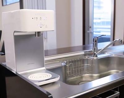 台所のシンク台に置いても邪魔にならないコンパクトサイズ