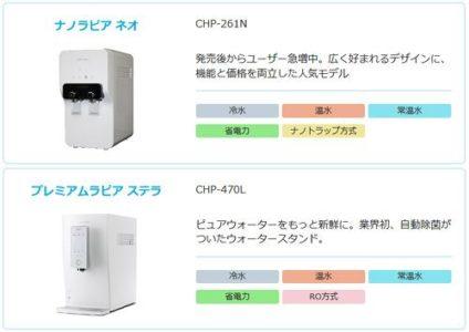 常温水がすべてのサーバーで使用可能
